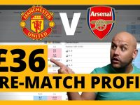 Arsenal v Man Utd: £36 Pre-Match Trading Strategy (on Betfair Exchange)
